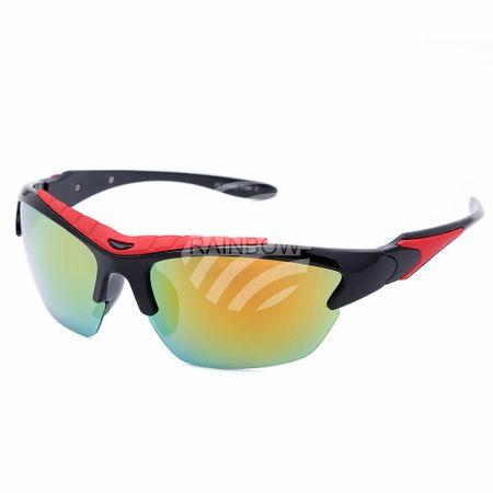 VS-331 VIPER Damen und Herren Sportbrille Sonnenbrille schwarz mit farbigen Applikationen