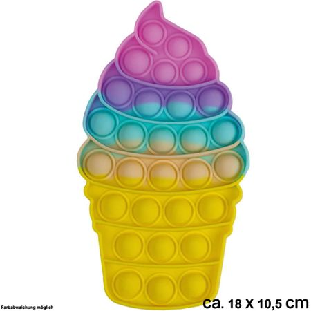BUT-059a Bubble Toy Pastell Eiscreme ca. 18 cm x 10,5 cm