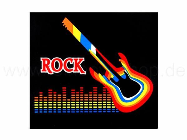 Shirt-03 EL Folie  schwarz Motiv:  Gitarre Aufdruck Rock