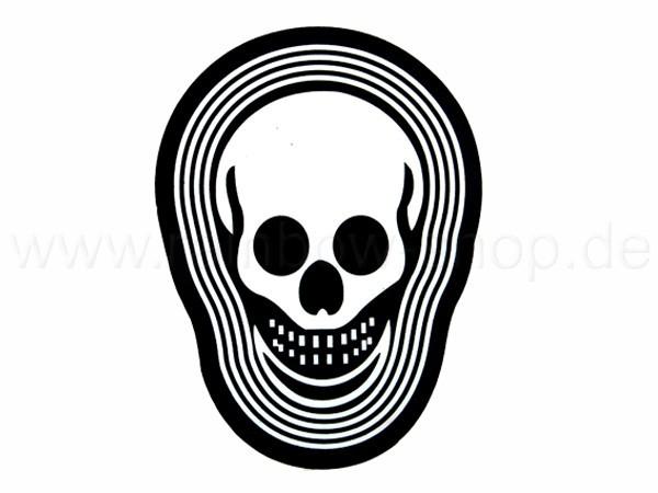 Shirt-23 EL Folie  schwarz Motiv:  Totenkopf
