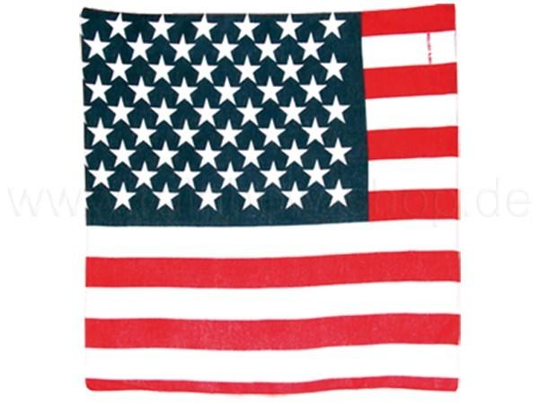 BA-006 Bandana Kopftuch Halstuch Amerika USA Flagge Farbe: rot, weiss, blau