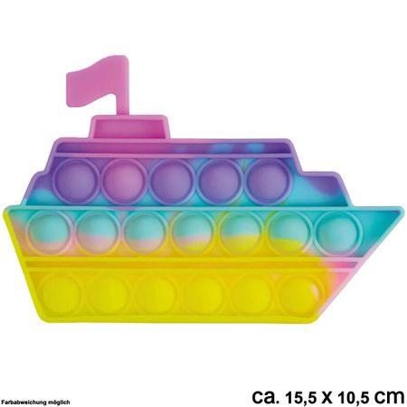 BUT-057a Bubble Toy Pastell Schiff ca. 15,5 cm x 10,5 cm
