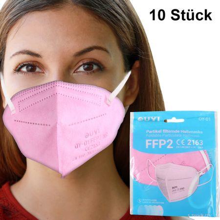 AM-015 FFP2 Atemschutzmaske Mundschutz Atemmaske pink