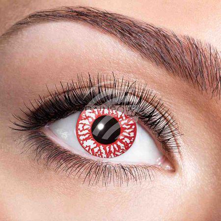 KL-w67 Weiche getönte Kontaktlinsen Bloodshot rot weiß