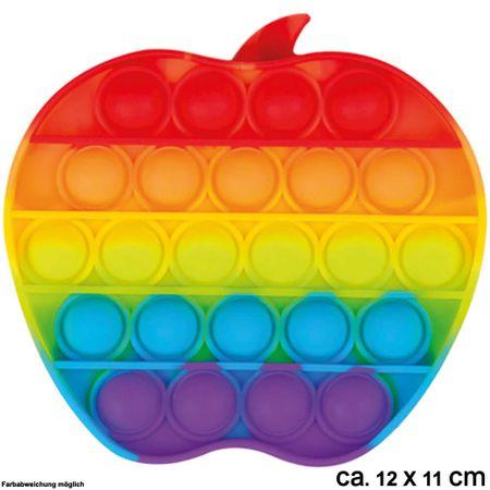 BUT-052 Bubble Toy Rainbow Apfel ca. 12 cm x 11 cm