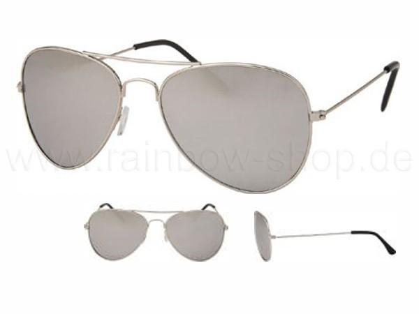 V-705 VIPER Damen und Herren Sonnenbrille Form: Pilotenbrille Farbe: silber