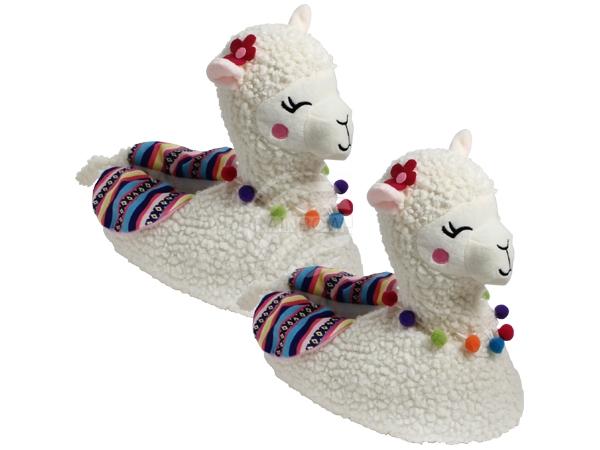 SHO-053 Hausschuhe Pantoffeln Lama Alpaka 40 - 42