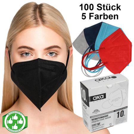 AM-016 Starterpaket mit 100 Stück FFP2 Atemschutzmaske Mundschutz Atemmaske 5 Farben á 20 Stück