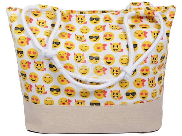 PACK-076 3 Emoticon Modelle Shopper Tragetasche