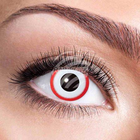 KL-w37 Weiche getönte Kontaktlinse Saw weiß rot