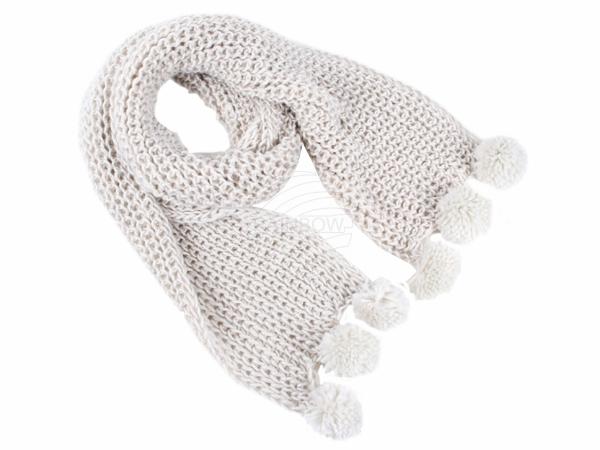 SCH-27weiss Damen Schal unifarben weiss