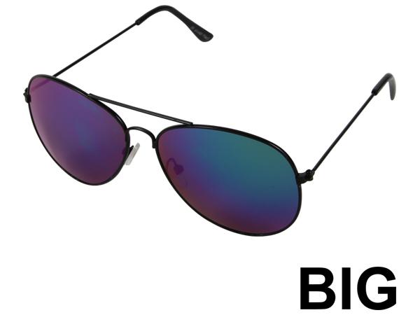 V-705g BIG VIPER Damen und Herren Sonnenbrille Form: XL Pilotenbrille Farbe: silber