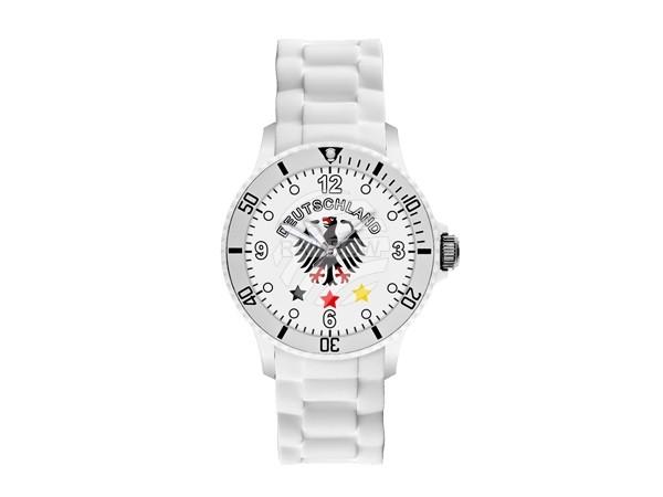 UR-DE3 Uhren Armbanduhren Länderuhren Deutschland weiß Ø ca. 4,4 cm