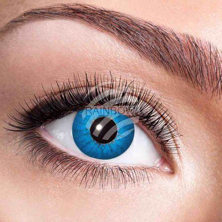 KL-w17 Weiche getönte Kontaktlinse Electro Blue blau