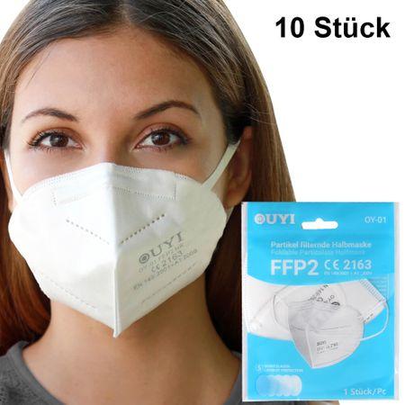 AM-011 FFP2 Atemschutzmaske Mundschutz Atemmaske. Einzeln verpackt.10 Stück in der Packung.