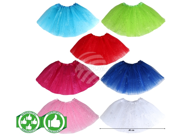 PACK-120 Starterpaket Kinder Tutu Petticoat 7 Farben á 5 Stück sortiert