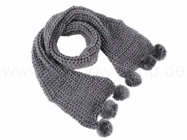 SCH-27grau Damen Schal unifarben grau