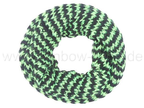 SCH-383a Damen Loop Schal Streifen hellgrün