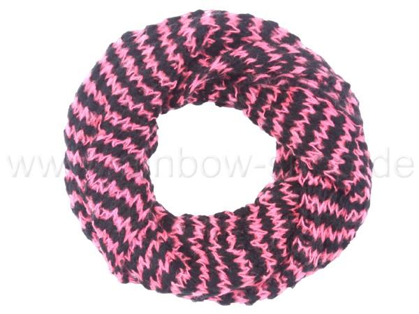 SCH-383c Damen Loop Schal Streifen rosa