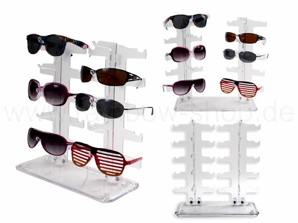 D-04 Brillendisplay Display für Sonnenbrillen Platz für 10 Brillen