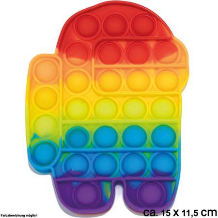 BUT-012 Bubble Toy Rainbow Roboter ca. 15 cm x 11,5 cm