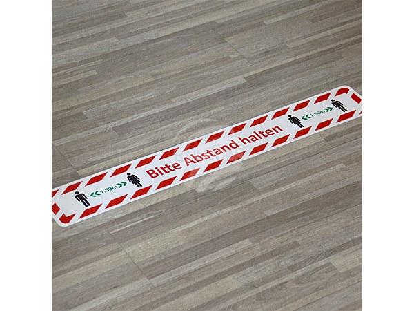 """AUF-001 Aufkleber Fußbodenaufkleber """"Bitte Abstand halten"""" mit Anti-Rutsch Beschichtung"""
