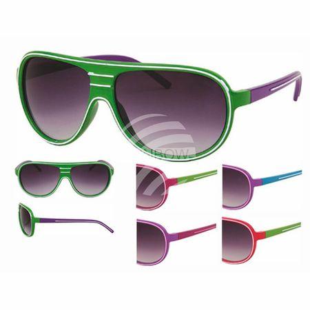 V-992 VIPER Damen und Herren Sonnenbrille Form: Design Brille Farbe: zweifarbig sortiert, Zierstreifen weiß