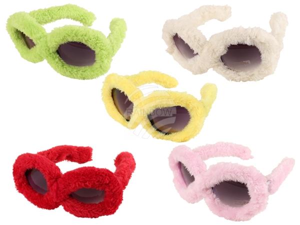 F-040 Fun Party Brille Form: Plüsch Brille Sortierung