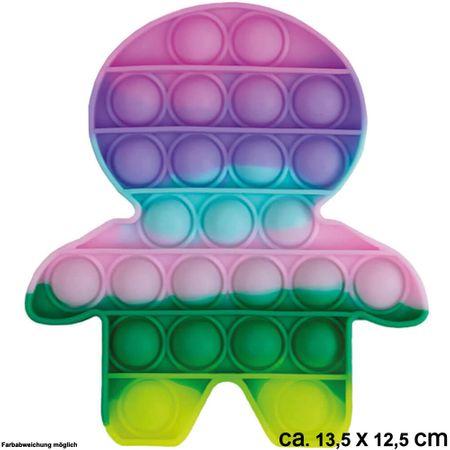 BUT-015a Bubble Toy Pastell Männchen ca. 13,5 cm x 12,5 cm
