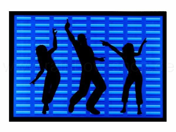 Shirt-13 EL Folie  schwarz Motiv:  Equalizer und Tänzer