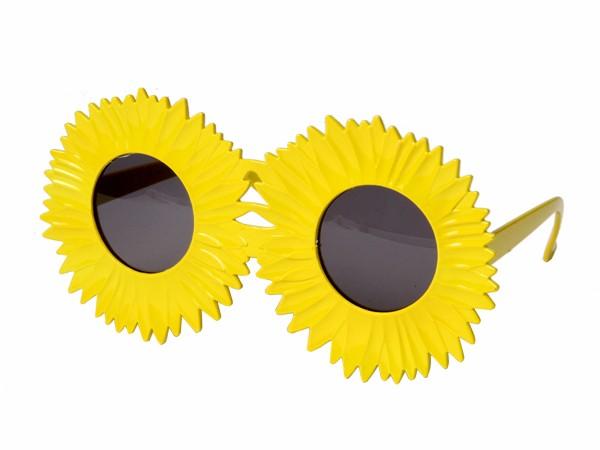F-031 Fun Party Brille Form: Sonnenblume Farbe: gelb