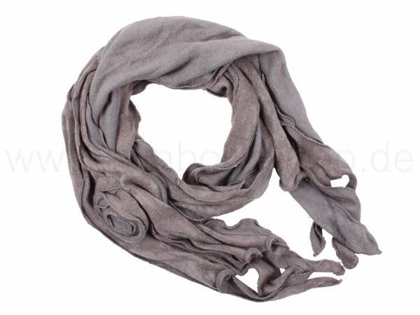 SCH-07grau Damen und Herren Schal Design: unifarben mit Fransen Farbe: grau