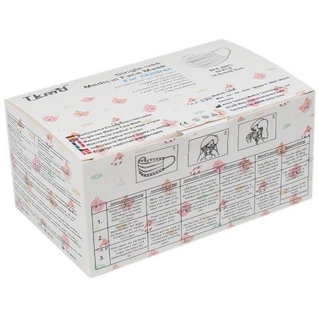 AM-04g Typ I Atemschutzmaske Mundschutz Atemmaske für Kinder weiß 50 Stück je Paket