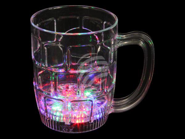 LG-01 LED Trinkglas transparent Motiv:  Bierglas