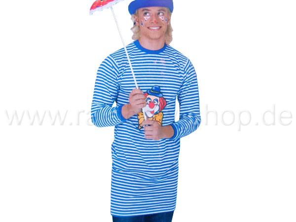 KAR-02 Karnevalskostüm Karneval Fasching Kostüm weiß blau gestreift Streifen