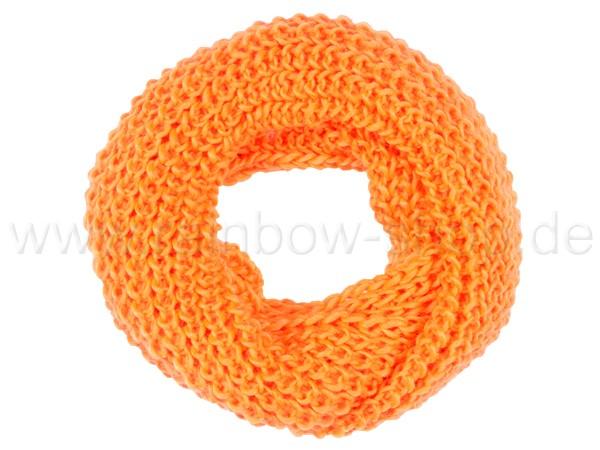 SCH-02t Damen Loop Schal Strickmuster neon orange