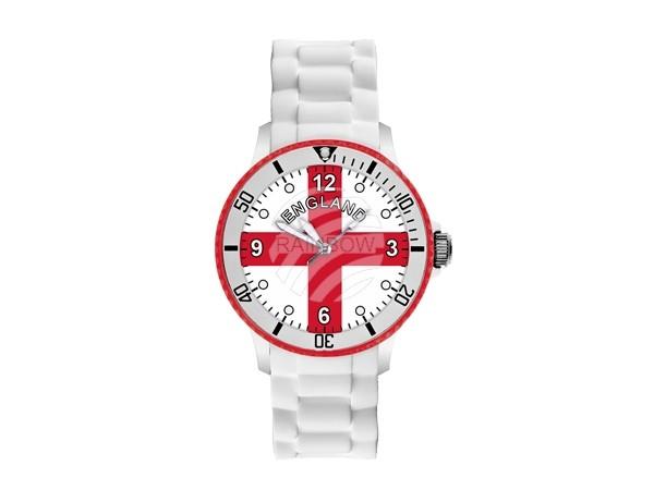 UR-ENG Uhren Armbanduhren Länderuhren England weiß Ø ca. 4,4 cm