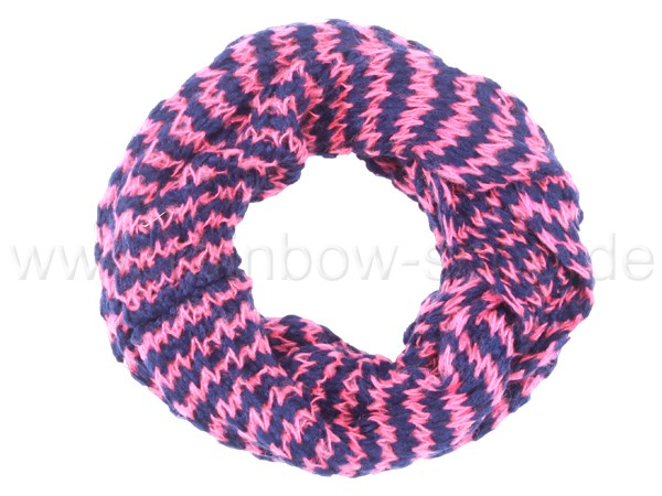 SCH-383e Damen Loop Schal Streifen rosa