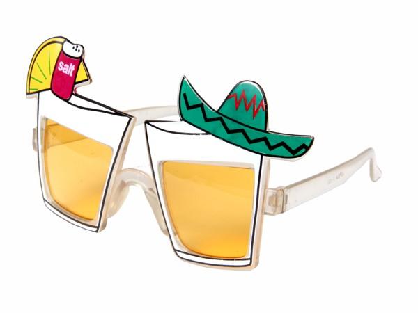 F-030 Fun Party Brille Form: Tequila Farbe: rot, gelb, grün