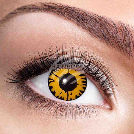 KL-w48 Weiche getönte Kontaktlinse Twilight gold schwarz