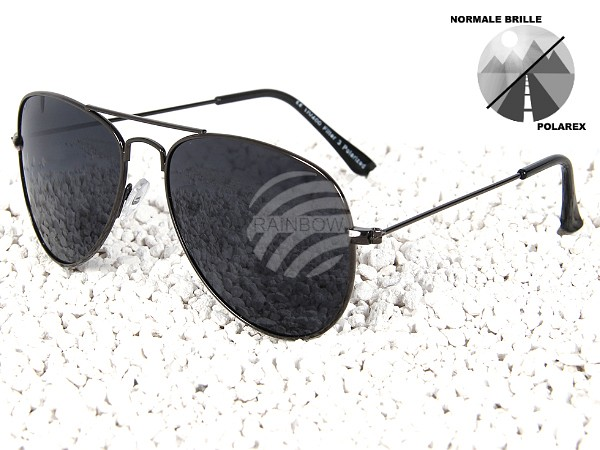 P-003 POLAREX Sonnenbrille polarisierte Pilotenbrille grau