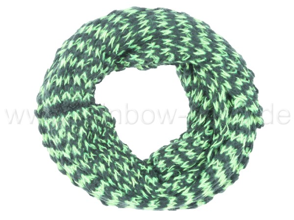 SCH-383d Damen Loop Schal Streifen hellgrün