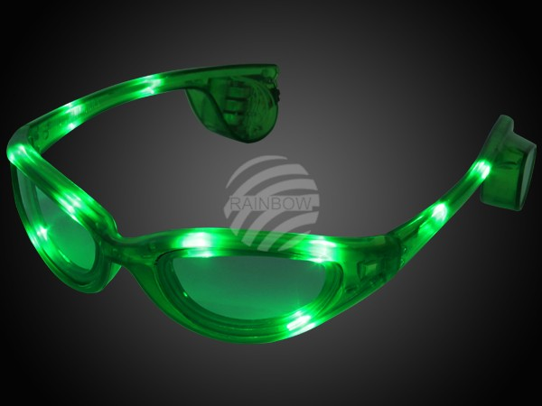 LB-03 LED Leuchtbrille grün Motiv: Sportbrille