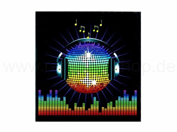 Shirt-31 EL Folie  schwarz Motiv:  Disco Kugel