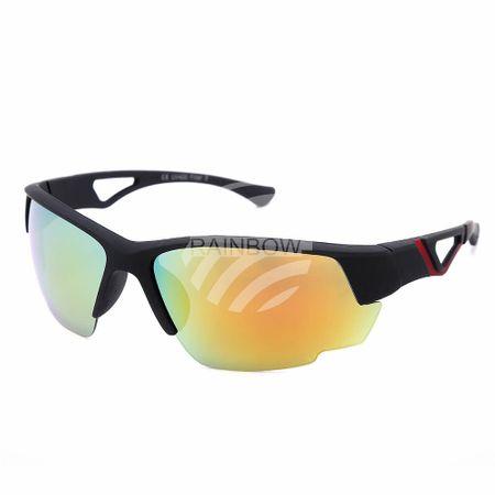 V-1447 VIPER Damen und Herren Sonnenbrille Sportdesign farbige Applikationen rubber touch schwarz
