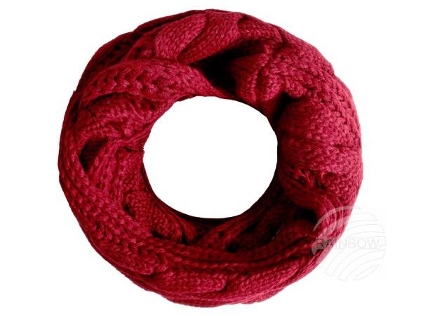 SCH-562c Damen Loop Schal unifarben rot