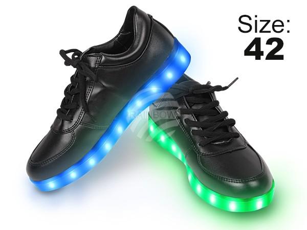 SHO-022 LED Schuhe Farbe: schwarz, Größe: 42