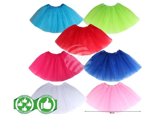 PACK-122 Starterpaket Kinder Tutu Petticoat 7 Farben á 5 Stück sortiert