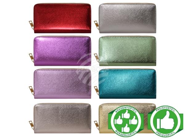 PACK-087 Design Brieftaschen Geldbörsen Portemonnaies metallic glänzend Starter Paket
