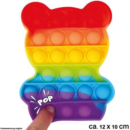 BUT-011 Bubble Toy Rainbow Bär ca. 12 cm x 10 cm